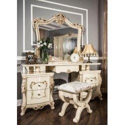 Дамский туалетный столик с зеркалом в стиле барокко Клеопатра