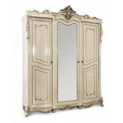 Шкаф трехдверный с золотой патиной Джоконда