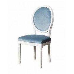 Белый классический стул с круглой спинкой Шарлотта