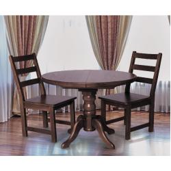 Круглый обеденный стол Корнет из натурального дерева