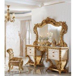 Элитный туалетный столик с зеркалом для спальни Фатин