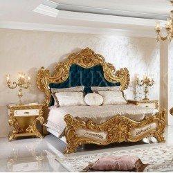 Деревянная кровать с резным изголовьем Фатин