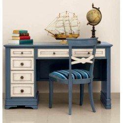 Письменный стол Артемида в синем цвете