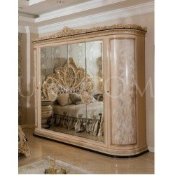 Шестидверный шкаф с зеркалом София