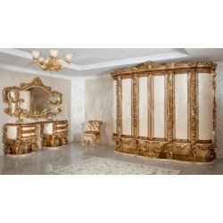 Шестидверный элитный шкаф в стиле барокко Султан