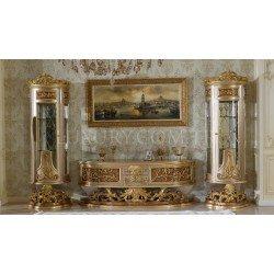 Золотая мебель из натурального дерева Роял