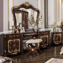 Элитный туалетный столик с зеркалом и пуфом Версаль