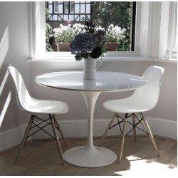 Круглый обеленный стол Тюльпан