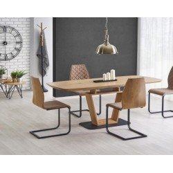 Обеденный раскладной стол под дерево Блекки (BLACKY)
