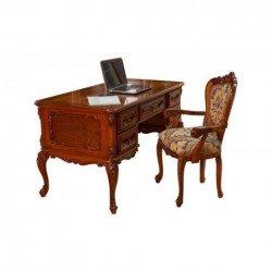 Резной элитный письменный стол Клеопатра