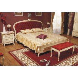 Деревянная кровать Аркад с мягким изголовьем