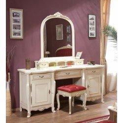 Белый туалетный столик с зеркалом в спальню Аркад