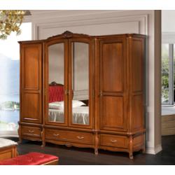 Шкаф с зеркалами на четыре двери в спальню Аркад