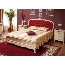 Белая деревянная кровать 1600 для спальни Аркад