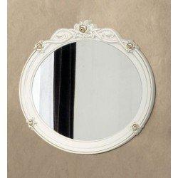 Круглое зеркало в резной оправе Флора