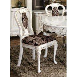 Белый обеденный стул Флора