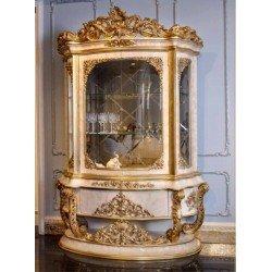 Резная стеклянная витрина со стеклом Капелетти (CAPELETTI) в стиле барокко