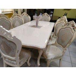 Классический стол Клеопатра в цвете крем