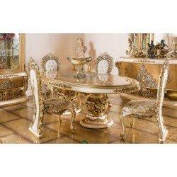 Большой золотой стол в стиле барокко Капелетти ( CAPELETTI)
