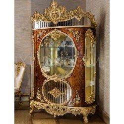Двухдверная элитная витрина Ария в стиле барокко