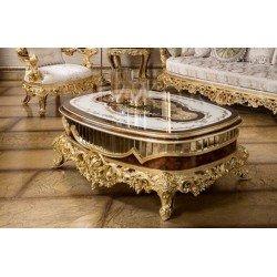 Овальный журнальный столик в стиле барокко Ария