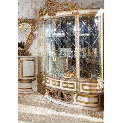 Большая двухдверная витрина для фарфора Битосси в стиле барокко