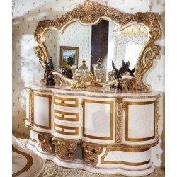 Большой буфет с зеркалом Битосси в столовую в стиле барокко