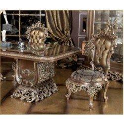 Элитный обеденный стул с резными узорами Диамант