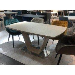 Бежевый стол Асти с керамической столешницей