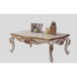 Белый журнальный столик Лара в стиле барокко