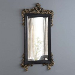 Декоративное зеркало Мария в резной раме с золотом