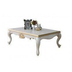 Белый журнальный столик с золотой патиной Мария