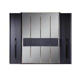 Прямой одежный шкаф серого цвета в стиле АРТ-Деко Лион