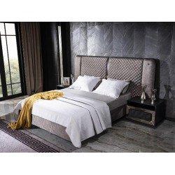Кровать с мягким изголовьем и подъемным механизмом Лион (LION)
