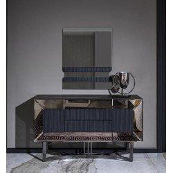 Серый туалетный столик Лион в стиле АРТ-Деко