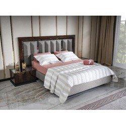 Модерновая кровать 1800 с мягким изголовьем Прада