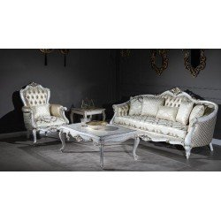 Белый стильный диван Нора в стиле барокко FER