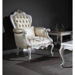 Белое кресло Нора в стиле барокко
