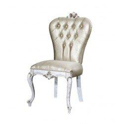 Белый классический стул с резной короной Нора