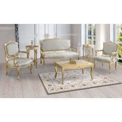 Золотой чайный диван с креслами Хазал, Турция