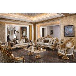 Классические мягкие диваны и кресла в стиле барокко Драпп