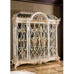 Белая стеклянная витрина в стиле барокко Пера (PERA)
