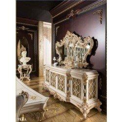 Белый деревянный буфет Пера в викторианском стиле