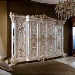Большой пятидверный шкаф в спальню Пера
