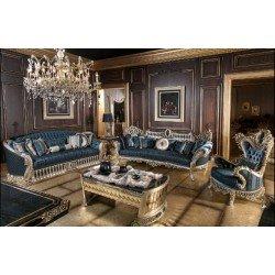 Синий классический набор мягкой мебели Шарм (CHARM)