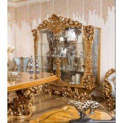 Двухдверная богатая витрина в цвете орех Рива ( RIVA)