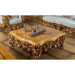 Квадратный резной столик Рива в стиле барокко