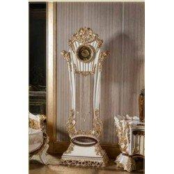 Белые классические напольные часы Роял в стиле барокко