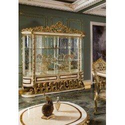 Большая резная витрина для посуды в стиле барокко SOCCI