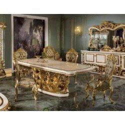 Стол обеденный в стиле барокко на резной ноге SOCCI